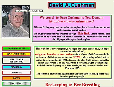 Dave Cushman's massive Beekeeping Website