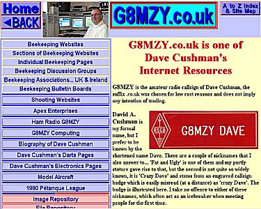 Dave Cushman's G8MZY.co.uk Website